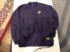 Rare Schaumburg Flyers Patches Mizuno Nylon Warm Up BP Pullover SZ XL - Cool