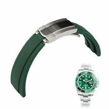 "Bracelet FOR Rolex GMT Oysterflex ""like"" HULK Submariner rubber band 20mm green"