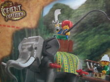 Lego 7414 Orient Expedition Dark Grey Gray Elephant Minifig Saddle Instruction