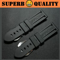 SUB Waterproof Rubber Watchband Strap for Panerai PAM Logo Buckle 22mm 24mm 26mm