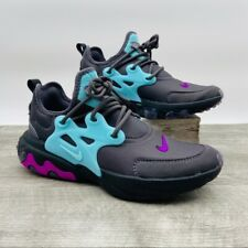 Nike Air Presto React Shoes Thunder Gray Aurora Style BQ4002 011 Women's New