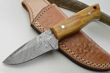 Skinner Häutemesser Damastmesser Jagdmesser Damast Messer damascus knife #36