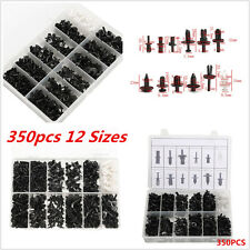 350pcs 12Sizes Car Truck Push Pin Rivet Trim Clip Panel Body Interior Assortment