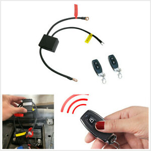 Motorcycle Battery Disconnect Cut Off Isolator Master Switch+2pcs Remote Control