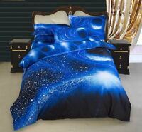 3D*Galaxy Bedding Set Universe Outer Space Duvet cover Bed Sheet Full/Queen Size