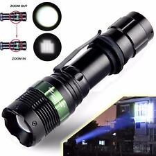 9000 Lumen Zoomable Cree XML T6 LED 98650 Flashlight Focus Torch Zoom Light HOT5