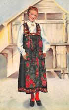 AK Norwegische Frau im Tracht Hallingdal Drakt National Costume