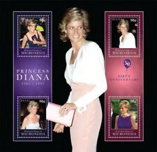 Micronesia- Princess Diana 50th Birth Anniversary Stamp Sheet of 4