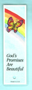 Bookmark Christian Butterfly Card Rainbow God Promise Bible Scripture Verse Gift
