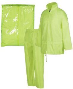 Jb's wear Bagged Rain Jacket Pants Fully Seam sealed Concealed Hood PVC/Coating