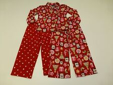 3 Piece Girls Size 4-5 Penguin & Polka Dot Pajama Lot Great Condition