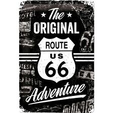 Route 66 The Original Adventure 50er retro Rockabilly Blechschild im Vintage Sty