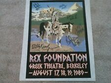 GRATEFUL DEAD AUTOGRAPHED REX BENE TEST PRINTING CONCERT PELON FROM BAND RAM ROD