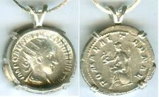 AD240 Silver Denari Coin Roman Teenage Emperor Gordian Goddess Roma Victory Nike