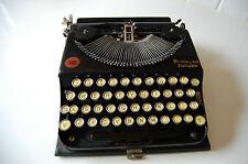 ANTIQUE REMINGTON PORTABLE TYPEWRITER # 1 SERIAL # NV33936 ORIGINAL CASE 1923