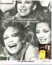 """Publicité Advertising 1976 Le parfum """"Vu"""" par Ted Lapidus"""