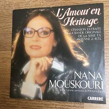 45 tours générique TV L'amour en héritage Nana Mouskouri 1984 M-