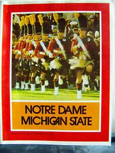 1975 Notre Dame Fighting Irish vs Michigan State Football Oct 4, 1975