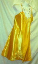SEXY SOLID,LINGERIE,YELLOW GOLD SLIP,CHEMISE,NIGHTGOWN,SLEEPWEAR - XXL -#622