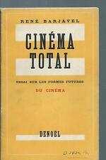 72467BARJAVEL RenéCinéma total; essai sur les formes futures du cinéma.
