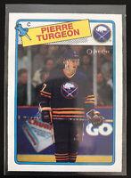 1988-89 OPC Pierre Turgeon Rookie Card #194 Near Mint