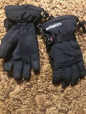 Hotfingers Snow Ski Winter Sherpa Lined Black Gloves Youth Large 9-10