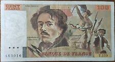Billet 100 francs Eugène DELACROIX 1987 FRANCE  T.119