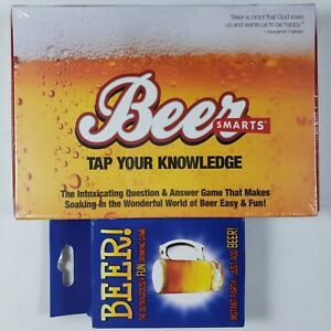 Beer Smarts Trivia Question Answer GAME / Beer! Playing Cards Game - Lot of 2