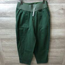 Asos Maternity Women's Size 0 Green Crop Carpenter Jeans NEW