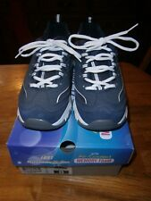 SKECHERS D'LITES NAVY SHOES SIZE 8 NEW WITH BOX