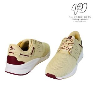 TBS Cladell Unisex Trainers Beige Leather And Mesh Upper Size 7.5 Uk / 41