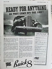 1936 Buick 8 Car Ready for Anything As They Come off the Line Original  Ad