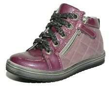 Bellamy Girls Farlo Pink & Violet Leather Zip & Lace Boots UK 7 EU 24 US 7.5