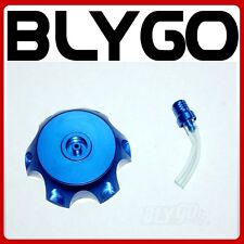 BLUE Alloy Gas Fuel Petrol Tank Cap + Breather 110cc 125cc PIT Trail Dirt Bike