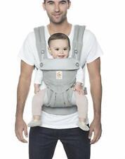 Ergobaby 360 todas las posiciones Baby Carrier (12-45 libras), Gris Perla