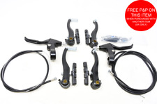 Complete Alloy Mtb Bike V-brake Set,alloy Levers, Front & Rear Cables & Fittings