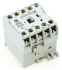 NEW GE Miniature Din Rail Magnetic Contactor CR6ZBV 12VDC Coil CA4-9C-10-12D 1NO