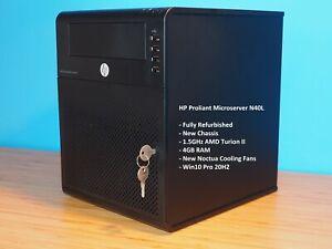HP Proliant Microserver N40L - 1.5GHz AMD Turion II - 4GB RAM - Win10 Pro 20H2