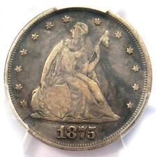 1875-P Twenty Cent Coin 20C - PCGS VF25 - Rare Date 1875 Coin!