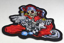 Patch écusson  Fou skull dés ,custom ,    moto; biker,