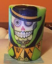 Day of the dead Sugar skull (fare attenzione) HAND Decorated pilastro candela 50hrs