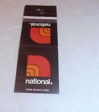 VINTAGE RARE NATIONAL GROCERY STORE OLD MATCHBOOK COVER NEW ORLEANS ST. LOUIS MO