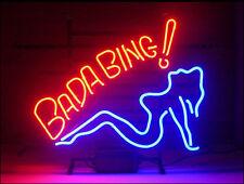"New Bada Bing Girl Man Cave Neon Light Sign 17""x14"""