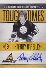 2010 10-11 Pinnacle Tough Times Autographs #TO Terry O'Reilly 205/250 on-card