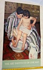 "Mary Cassatt Print ""The Bath"" ~  37"" x 22""  from The Art Inst. of Chicago 1987"
