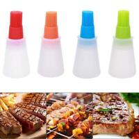 1pc Heat Resisting Silicone Grill Oil Bottle BBQ Basting Brush Cooking Tool