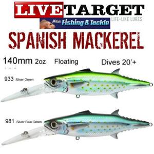 Live Target 140mm Spanish Mackerel Fishing Trolling Lure