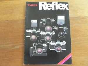 CANON REFLEX 1980  CAMERA'S  BROCHURE,PROSPEKT A-1,AE-1,AV-1,AT-1,F-1,FD