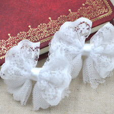 15/30/150PCS Mesh Ribbon Bow Flowers Appliques Craft Doll Decor Lots A287