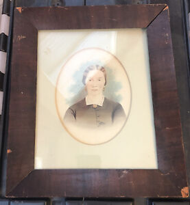 early period rectangle mahogany wood picture frame original Victorian or earlier